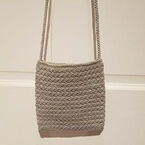 Crochet grey purse